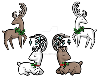 Holiday Reindeer by melissah84