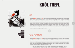 Blogspot template Krol Trefl by stupid-owl