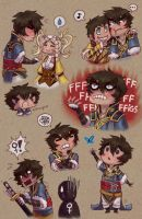 Roe's art for Lon'qu fanbook page 1 by roseannepage