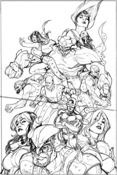 Young X-Men 1 Cover Pencils by TerryDodson
