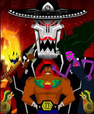 Guacamelee Poster Alternate by Tigresuave11