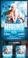 Marina Party Flyer Template by odindesign