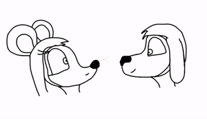 Dook And Mitzi kissing animation (not complete) by Bronson365