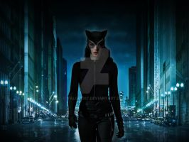 Anne Hathaway as Catwoman by Valor1387