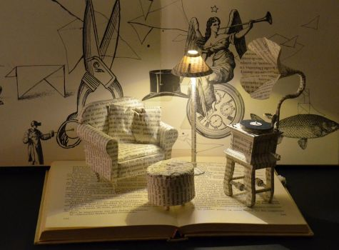 Dont know why  Book Sculpture by MalenaValcarcel