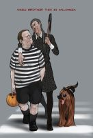 Person of Interest-Reese/Fusco-Halloween by monster3x