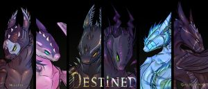 Destined: Character Banner by PurpleMistPepper
