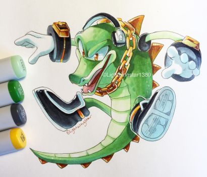 Vector the Crocodile by lightningstar1389