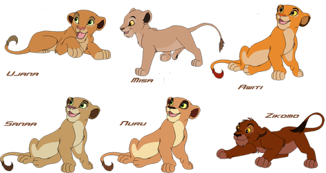 The New Legacy - Scar and Sarabi's Cubs by ShadowSpirit020