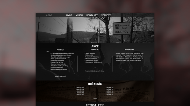 Nas Jundrov - Web design draft by KevinWScherrer