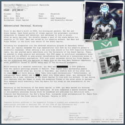 Colonist Record: Qui Meon by AndrewDavidJ
