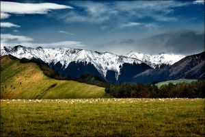Snow topping mountains by Ananyana