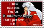 InuYasha Makes Me Happy Stamp by M-Skirvin