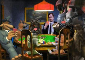 Dogs Playing Poker by Smaggers
