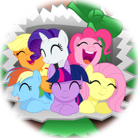 Mane6 Surprise Package by Ashidaru