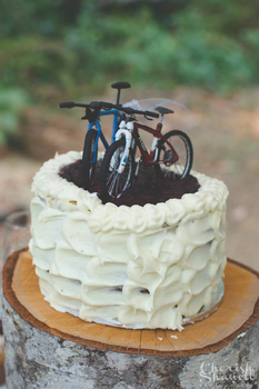 Tiny Bicycles ~ Wedding Cake Topper by nEVEr-mor