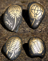 Painted Fossil Rock Magnets - Them Armor Bois by KiRAWRa