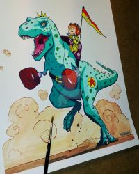 Boxing T-rex by Melquizedec