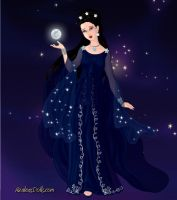 Nyx, Goddess of the Night by LadyIlona1984