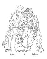 Kukui and Guzma  memory picture by MAR0WAK