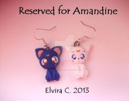 Luna and Artemis earrings on commission by elvira-creations
