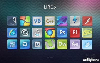 Lines icons by J0X