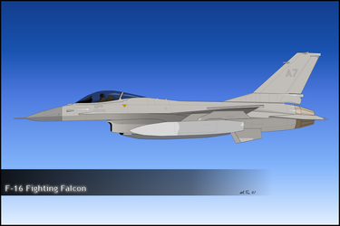F-16 Fighting Falcon by zigshot82
