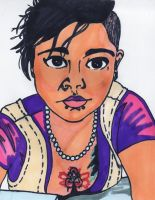 Selfie in Marker by MyThoughtsAreDeep