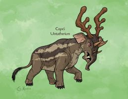 Science Ruined Uintatherium by Monster-Man-08