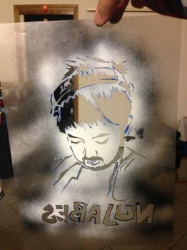 Nujabes tribute stencil (reversed) by equinox101