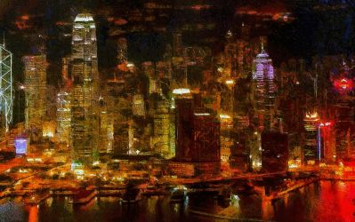 Hong Kong Cityscape by montag451