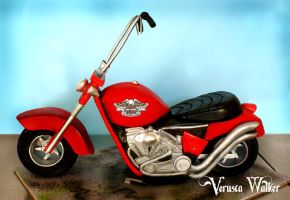 3D Motorbike Cake by Verusca