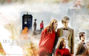 Doctor who and Amy Pond by hazelxxx