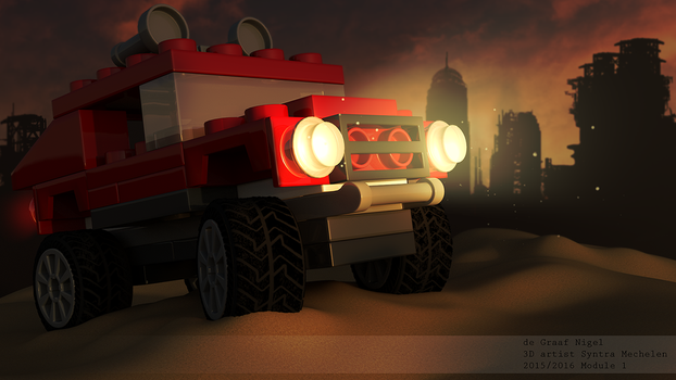 Lego Jeep by spacerogue