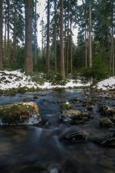 Winter river by Dragoroth-stock