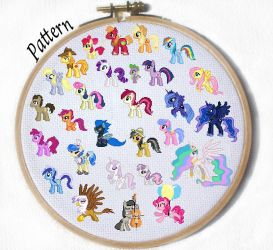 YOU PICK MLP Character Cross Stich Pattern by JuliefooDesigns