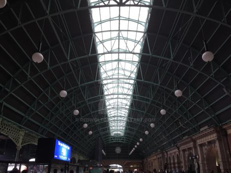 Central Station Concourse Roof by redwolfoz