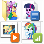 Equestria Girls Google Drive Icon Pack by rcmero