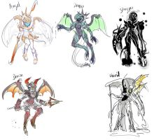 The 5 Xconcept-sketch by ManiacPaint