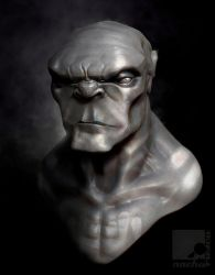 Ogre Bust by nachoriesco