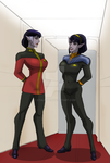 Generations.. Adm. T'Var and LtCmdr T'Lin by StalinDC