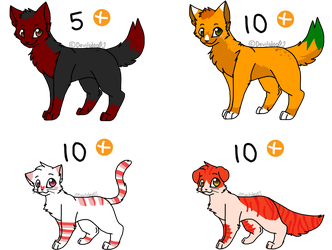 Canine and cat adoptables (Hella closed) by DevilsRealm