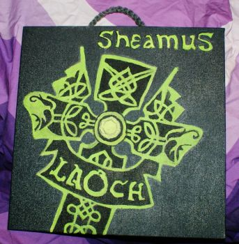 Sheamus Logo acrylic 12x12 acrylic painting by WhimsicallyObsessed