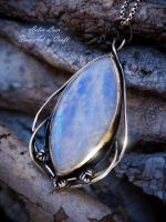 Moonlight well silver talisman by Gwillieth