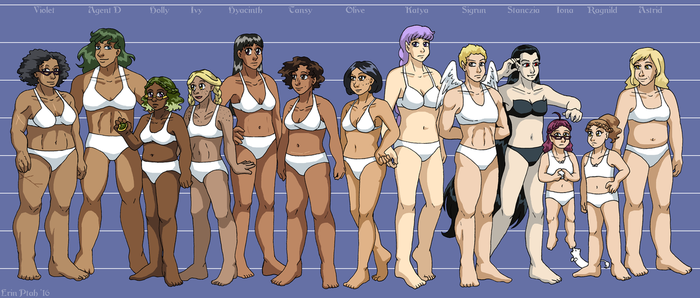 Leif and Thorn - Character Height Chart I by ErinPtah