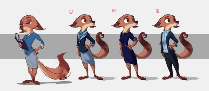 Megan Fawkes - Outfit Lineup by Ruffu
