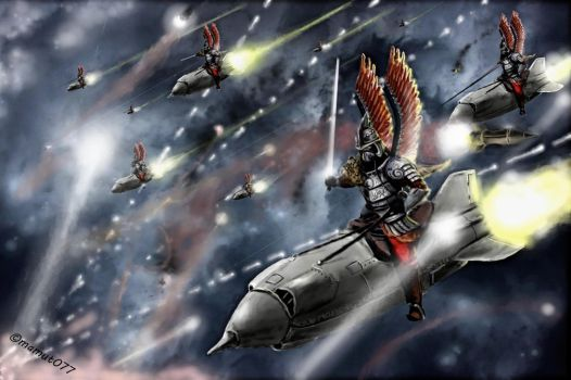 Rocket hussars with a lightsabers :P by mamut077