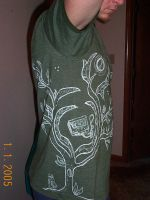 Hand-painted t-shirt_side view by Drifter22