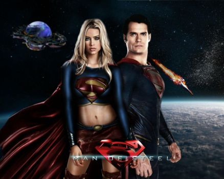 Supergirl and superman by xLexieRusso2