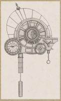 Drawing of clockwork universe by timwetherell